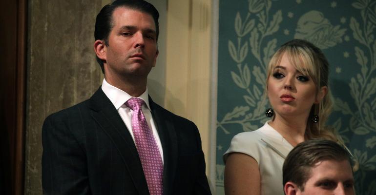 Donald Trump Jr and Tiffany Trump