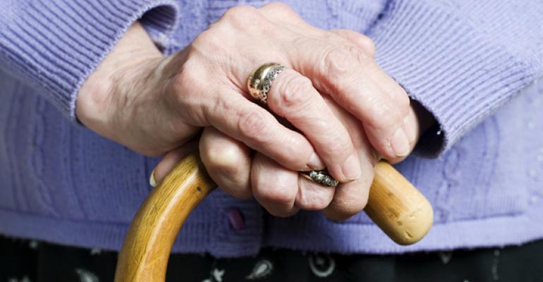 elderly woman cane