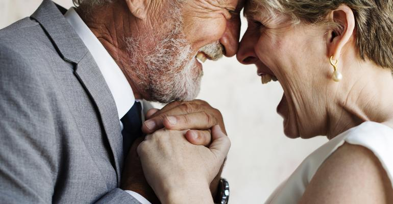 elderly couple wedding