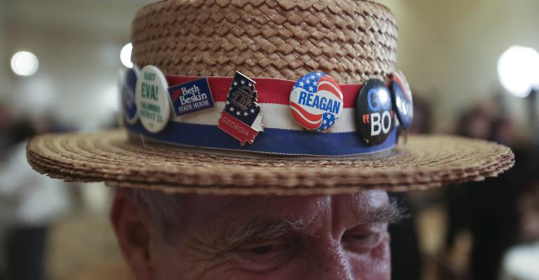 election buttons hat