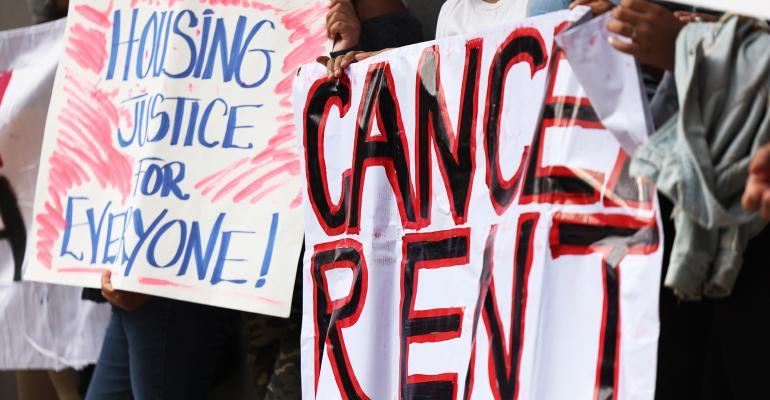 cancel rent banner