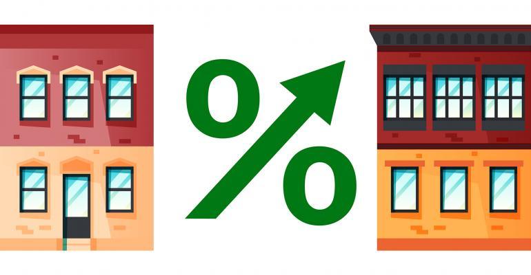 real estate percentage increase