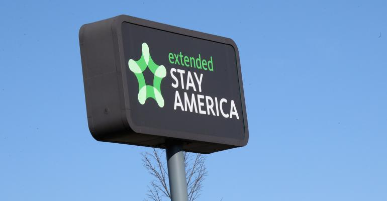 Extended Stay sign