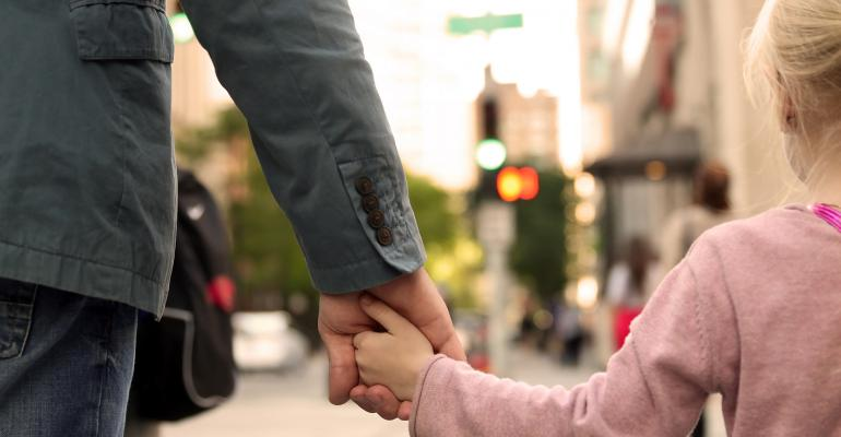 father daughter holding hands