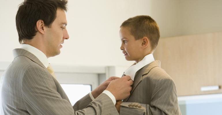 father son suit