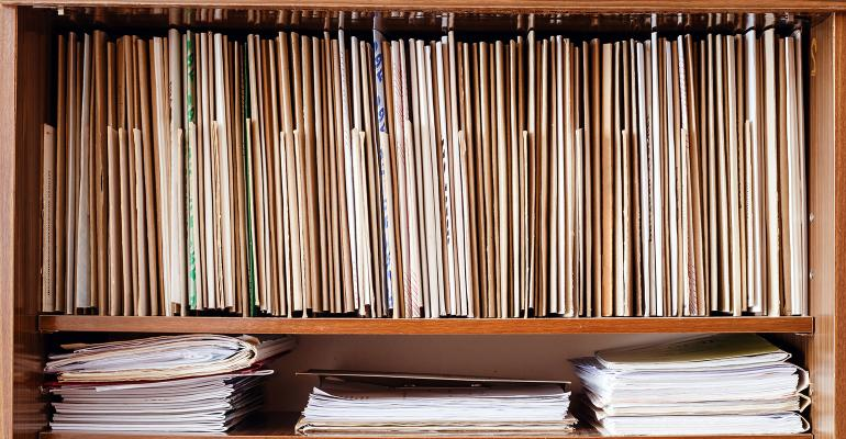 files records shelf