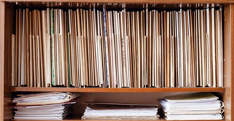 files records shelf