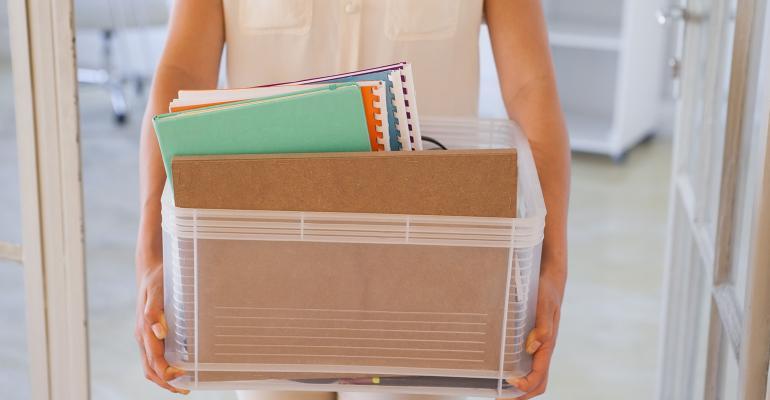 fired employee cardboard box