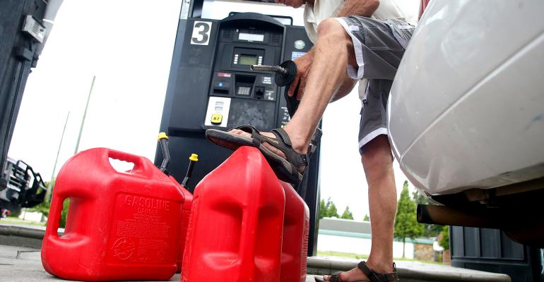 filling up gas cans