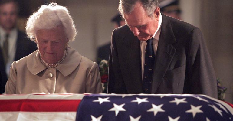 George and Barbara Bush Reagan funeral