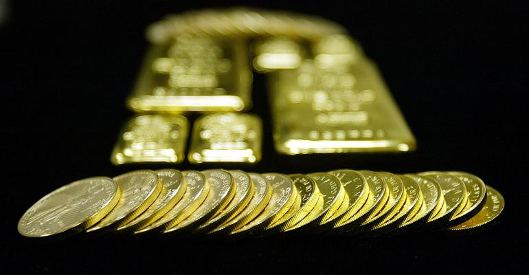 gold bars coins