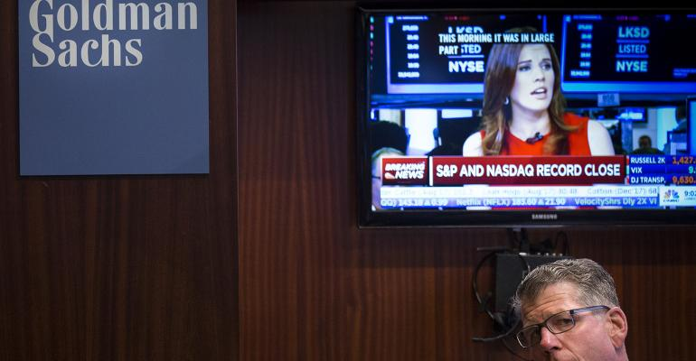 Goldman Sachs trading desk Wall Street