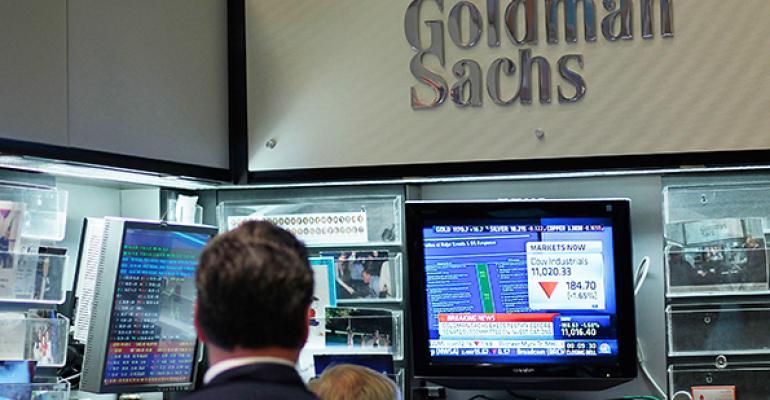 An employee at Goldman Sachs.
