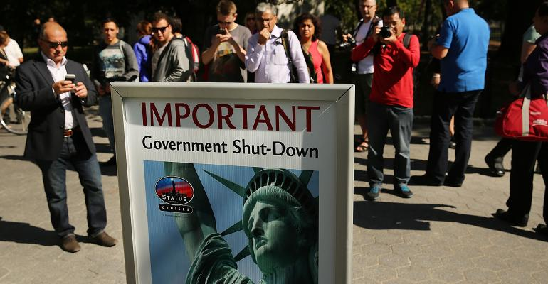 government shutdown sign