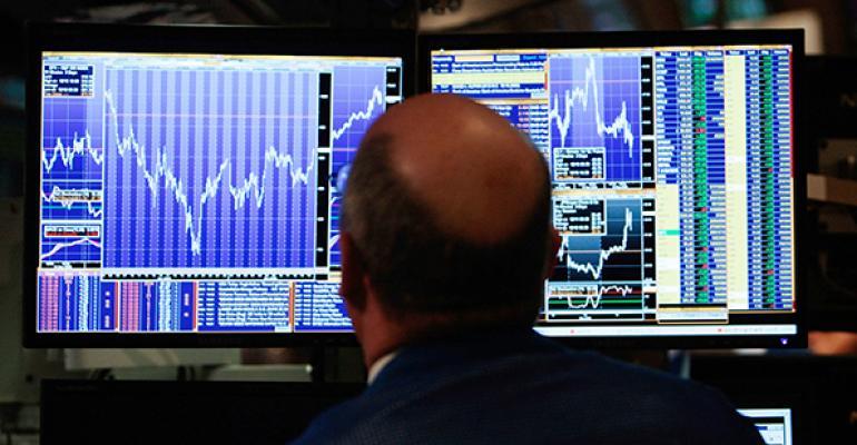 stock market screens graphs