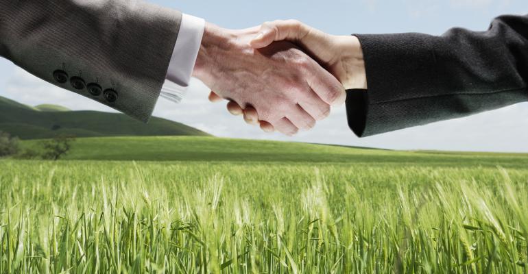 handshake green field