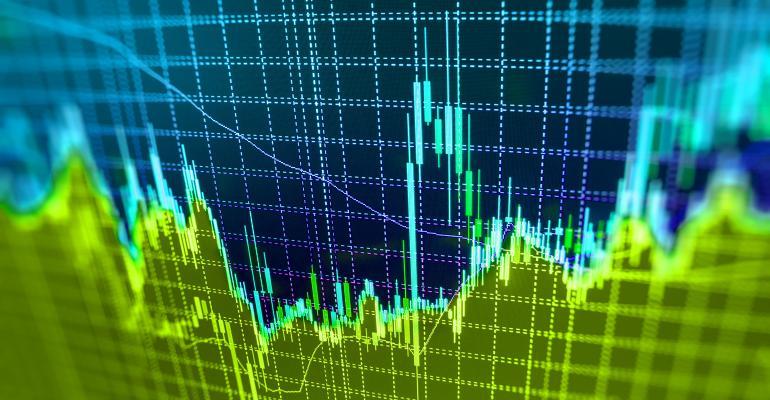 green stock market graph