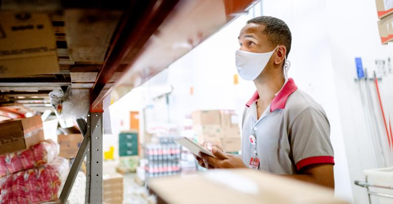 supermarket storage worker