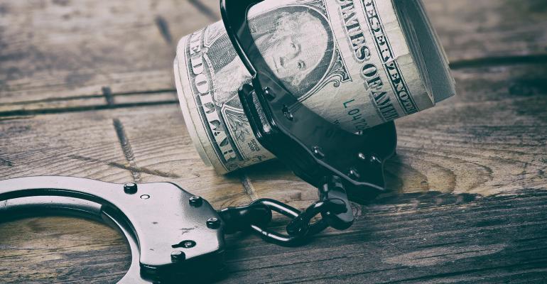 handcuffs money