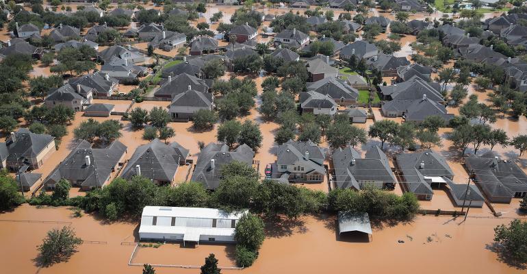 homes flooded houston