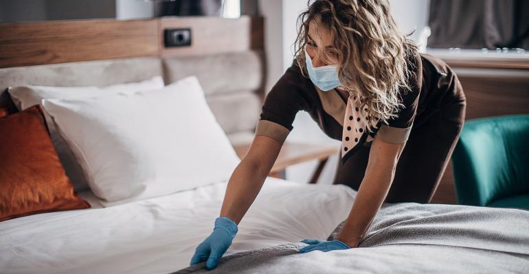 hotel maid face mask