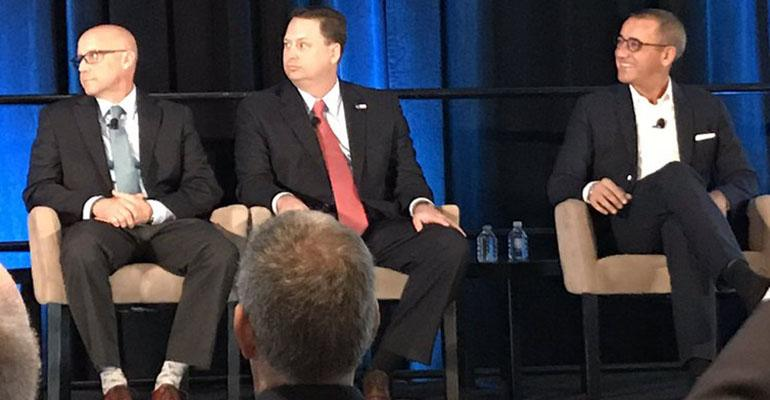 Eric Clarke, Shirl Penney and Joe Duran at the Schwab IMPACT conference