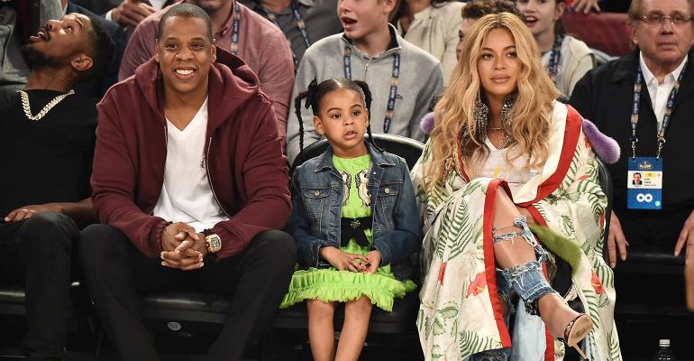 Jay-Z, Blue Ivy Carter, Beyonce