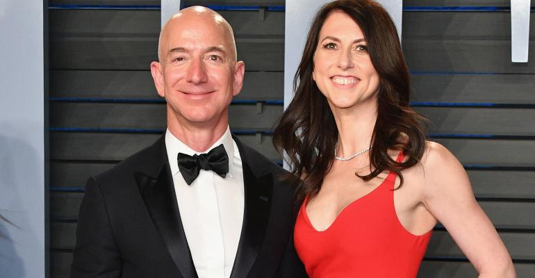 Jeff Bezos and MacKenzie Bezos