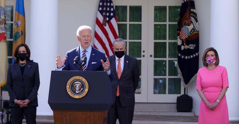 Joe Biden speech with Kamala Harris Chuck Schumer Nancy Pelosi