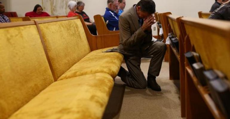 kneeling prayer church