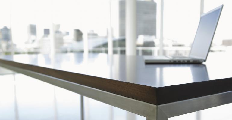 lapton on desk