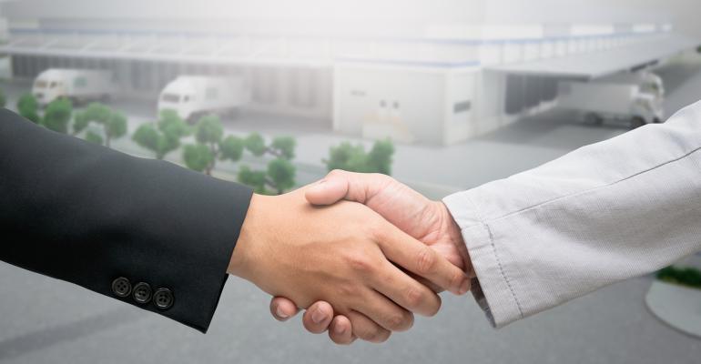 warehouse handshake