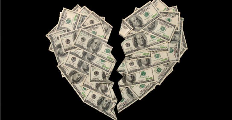 broken money heart