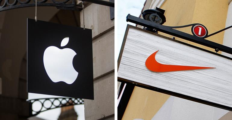 Nike and Apple logos