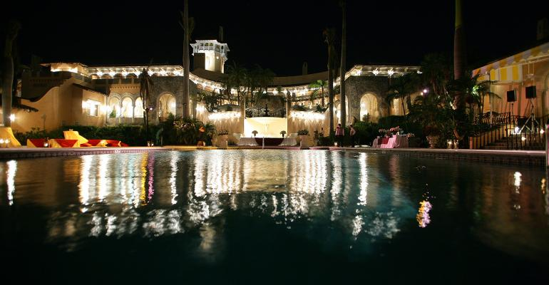 night view of Mar-a-Lago resort