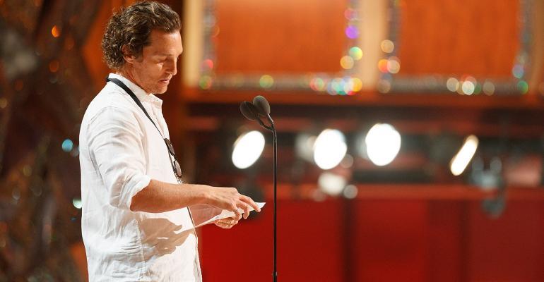 Matthew McConaughey rehearsal