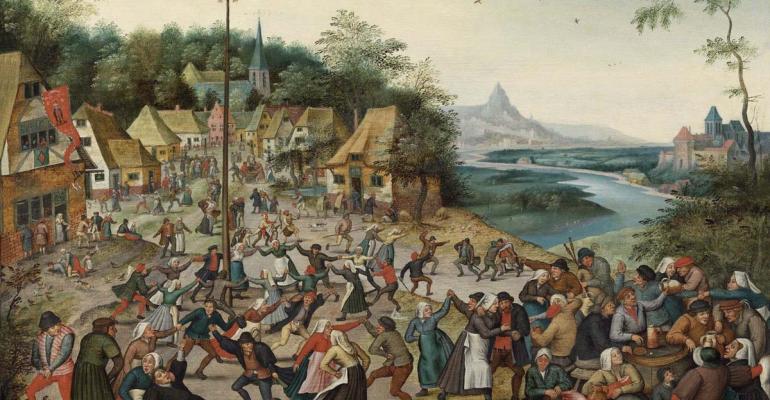 Village Kermesse with Dance Around the Maypole (Maypole)
