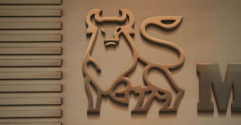 The Merrill Lynch bull logo.