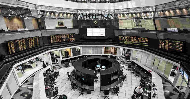 Mexican stock exchange floor