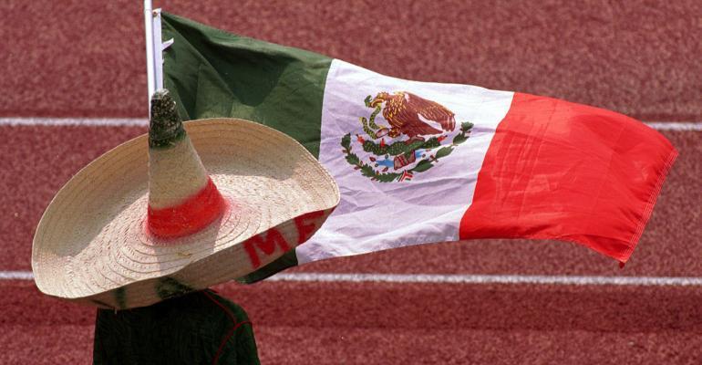 Mexican flag sombrero