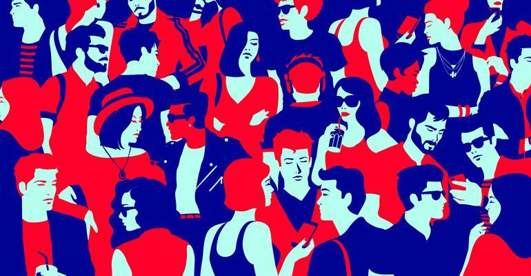 millennials chatting