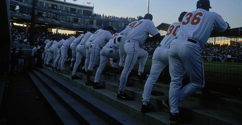 minor league team dugout