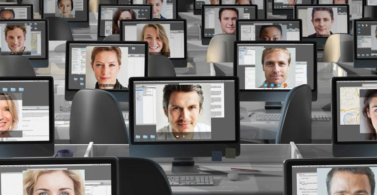 office computers faces