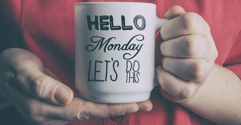 Monday motivation coffee mug
