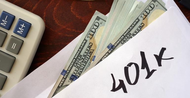 money 401(k) envelope
