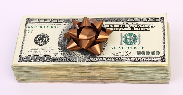 money gift bow