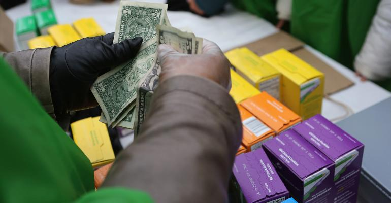 counting money girl scout cookies
