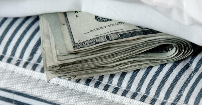 money in mattress