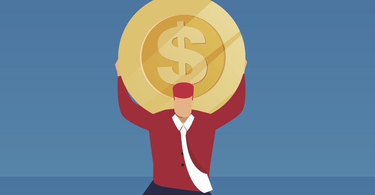 money coin shoulders