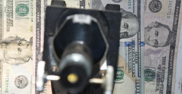 money under microscope